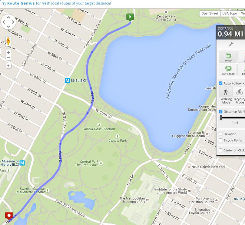 Mile 10 Central Park (Measured)