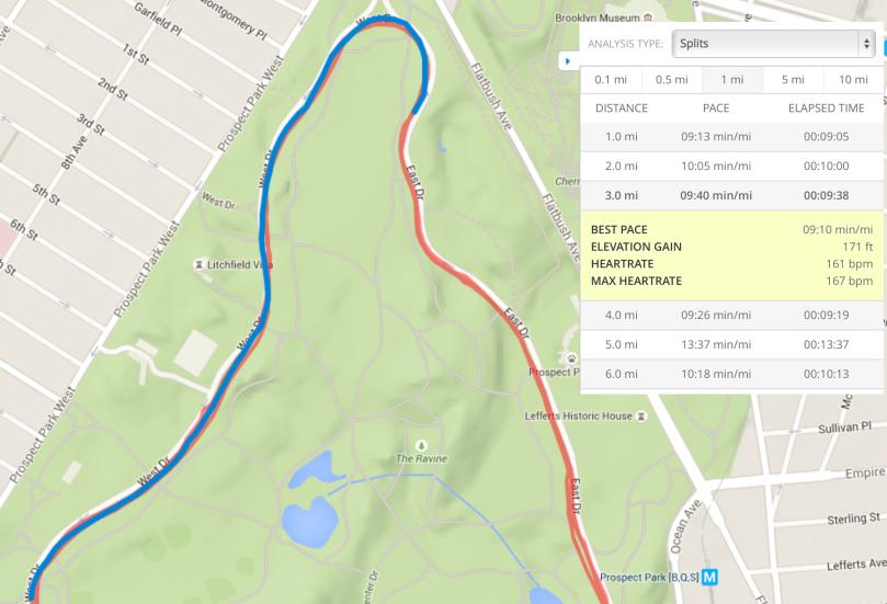 Prospect Park Mile 3 (Garmin GPS)